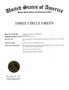 6 TM Three Circle Green 3j
