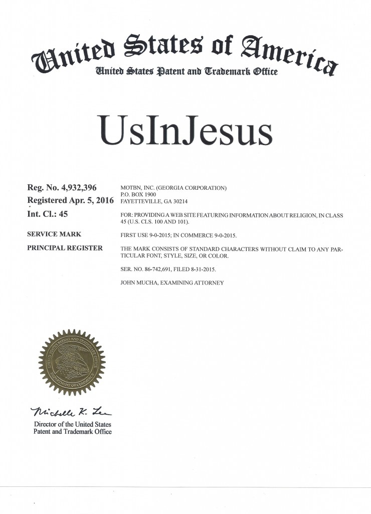 UsInJesus Trademark 3j